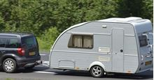 Picture of Car & Towing Caravan, Return