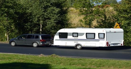 Picture of Car & Towing Caravan